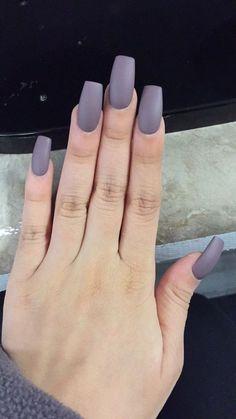 Grey purple nails