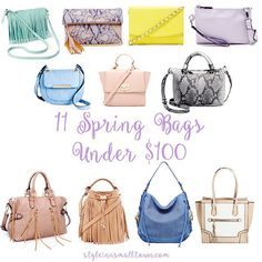 11 Spring Handbags Under $100 - Style in a Small Town
