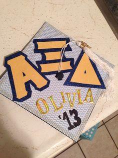 Alpha Xi Delta graduation hat