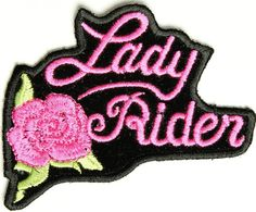 "Embroidered Iron On Patch - Pink Lady Rider Rose 3"" x 2.5"" Patch Ivamis Trading,http://www.amazon.com/dp/B008X9VHPM/ref=cm_sw_r_pi_dp_QfSstb1EX25N58SH"