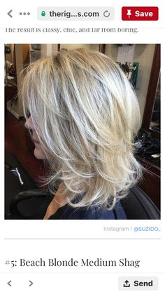 60 Best Variations of a Medium Shag Haircut for Your Distinctive Style Medium Layered Blonde Hairstyle - Unique Long Hairstyles Ideas Shaggy Layered Haircut, Shoulder Length Cuts, Styling Shoulder Length Hair, Medium Shag Haircuts, Haircut Medium, Modern Haircuts, Modern Hairstyles, Hair Highlights, Color Highlights