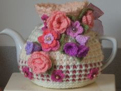 shabby chic hand knitted crocheted and beaded by peerietreisures