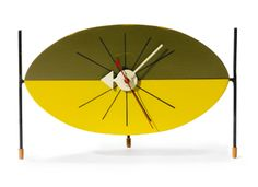 """WATERMELON"" TABLE CLOCK, MODEL NO. 2219 George Nelson Associates - Sotheby's"