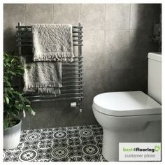 Customer bathroom installed with Tangier 03 cushioned vinyl flooring lovely photo