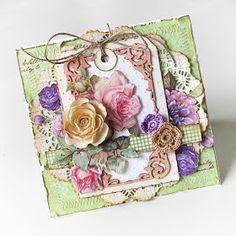 Betikowe pasje...: Kartki pełne kwiatów...