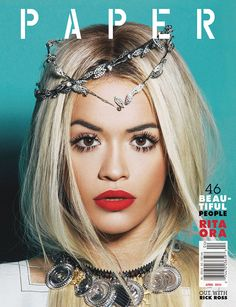 Our #makeup artist, Renee Garnes, did the makeup for Rita Ora's Paper Magazine cover.