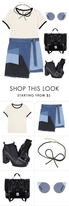 """""""#backtoschool2"""" by sarabutterfly ❤ liked on Polyvore featuring Monki, Cheap Monday, Fendi and BackToSchool"""