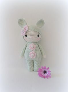 ✣ Bunnydoll in zartgrün gehäkelt ✣ von ✣  Smoozly Crochet ✣ auf DaWanda.com