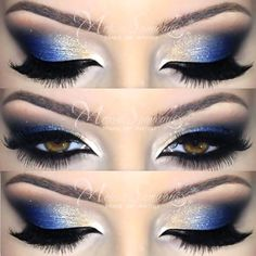 Cobalt Blue Makeup