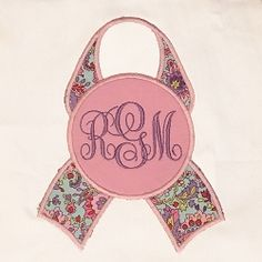 Awareness Ribbon Monogram Applique - 3 Sizes! | What's New | Machine Embroidery Designs | SWAKembroidery.com Machine Embroidery Geek