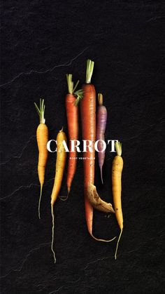 Day Carrots The carrot is a root vegetable usually orange in colour though purple red white and yellow varieties exist. Carrots can add vibrant color to a dish a subtly sweet flavor and a. Fruit And Veg, Fruits And Veggies, Fruit Food, Food Wallpapers, Vegetables Photography, Dark Food Photography, Color Photography, Root Vegetables, Food Coloring