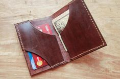 UnimiStore leather credit card holder mini wallet, perfect gift for men women