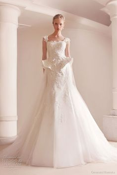 Georges Hobeika romantic wedding dresses with peplum
