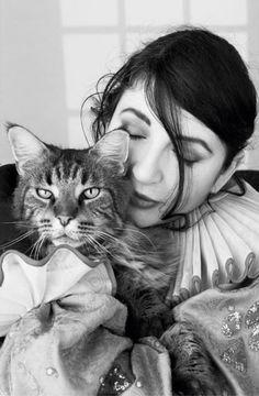 Kate Bush and cat