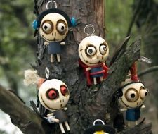Novel Characteristic Lovely/Cute Wood Voodoo Doll Key Chain Key Accessories