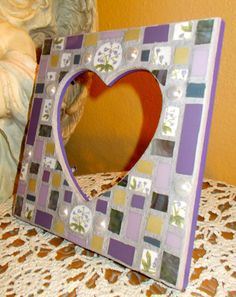 Heart Mosaic, Heart Frame Mosaic, https://www.facebook.com/Heart2HeartMosaics