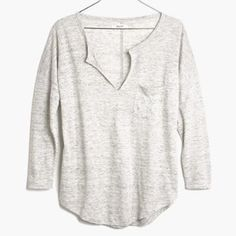 Madewell linen telegraph tee Soft and comfortable for everyday Madewell Tops Tees - Long Sleeve