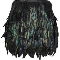 Black rooster coque feather skirt mini length por weddingfeather, $52.00