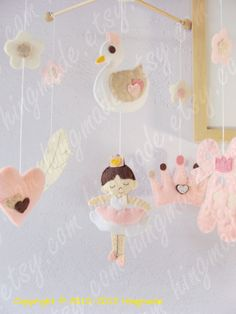 Ballerina Mobile - Baby Crib Mobile - Baby Mobile - Story Mobile - Hanging Mobile - Lovely Dancing Bella the ballerina.