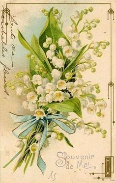victorian nosegay of lilies of the valley and forget me nots - Google Search