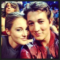 Shailene Woodley and Miles Teller at the VMAs (via, Miles Teller's instagram) ~Divergent~ ~Insurgent~ ~Allegiant~