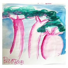 Today's inspiration; Baobab Trees.  #baobab #trees #africa @buongiorno_amsterdam