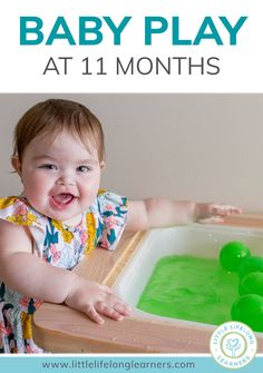 Baby Play At 11 Months Little Lifelong Learners In 2020 Baby Play Activities 10 Month Old Baby Activities Baby Sensory Play