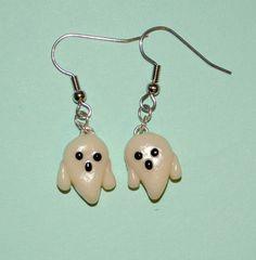 Halloween Ghost Dangle Earrings Glow in the by PumpkinPyeBoutique, $15.00