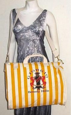 GIORGIO BEVERLY HILLS vintage dufflel beach tote shoulder strap and hand carry