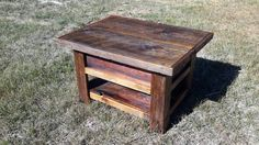 Reclaimed wood/barn wood coffee table. Made from real barn wood over 100 years old
