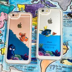 韩国迪士尼海底总动员苹果6手机壳液体流动Iphone6splus小丑鱼n女-淘宝网