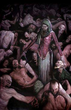 The fabulous dark fantasy illustrations and paintings of professional artist Erik M Gist. Zombie Kunst, Zombie Art, The Crow, Arte Horror, Horror Art, Creepy Horror, Scary, Dark Fantasy Art, Dark Art