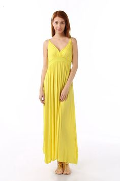 Solid Color Maxi Dresses