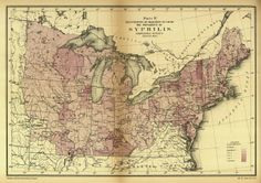 Map of syphilis outbreak in the North during the Civil War