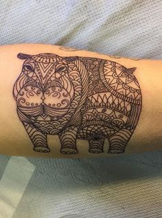 20df2bc72 Hippo tattoo Mens Tattoos, Cute Tattoos, Tattoos For Guys, Tatoos, Rhino  Tattoo