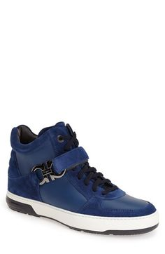 bba53870277 Salvatore Ferragamo 'Nayon' High Top Sneaker (Men) available at #Nordstrom  Jeans