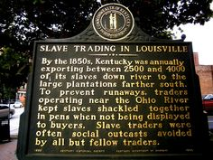 Slave Trading in Louisville plaque