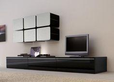 Luna Glass Wall Unit , Wall storage systems, Go Modern Furniture Tv Design, Tv Unit Design, Interior Design, Design Ideas, Living Room Tv, Living Room Furniture, Modern Furniture, Contemporary Tv Stands, Modern Contemporary