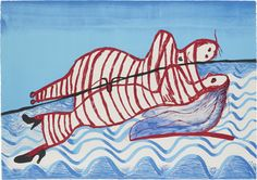 Louise Bourgeois (French/American, 1911-2010), Hamlet and Ophelia, 1997. Colour lithograph, 75 x 107 cm. Edition of 50 plus 20 artist's proofs.