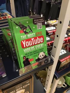 This book of YouTube videos.   22 Products The World Never Asked For