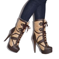 Gorgeous high ankle boots. Perfect for this winter !! ShoeDazzle Kadesia #boots #booties #winter