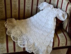 Baby girl crochet Christening gown with matching by EmporiumHouse, $175.00