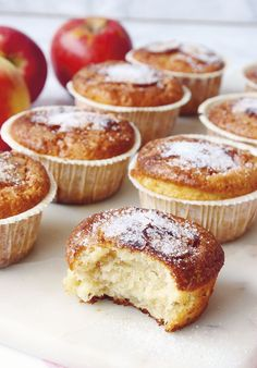 Äppelmuffins   Senioren Lazy Cabbage Rolls, Healthy Recepies, Home Baking, I Love Food, Scones, Sweet Tooth, Food And Drink, Sweets, Snacks