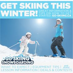 Learn to ski on your resolutions for 2013? Check out go-skiing.ca for information and tips on how to get started.