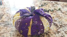 Check out this item in my Etsy shop https://www.etsy.com/listing/205346480/sale-lsu-pumpkins-out-of-repurposed