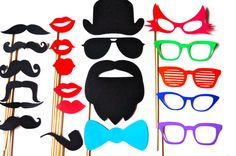 Fun Photo Booth Props  21 piece prop set  by TheManicMoose on Etsy, $26.00