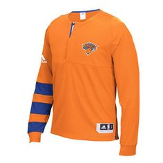 c3dd2c1d3 adidas New York Knicks Orange On-Court Shooter Long Sleeve T-Shirt  knicks
