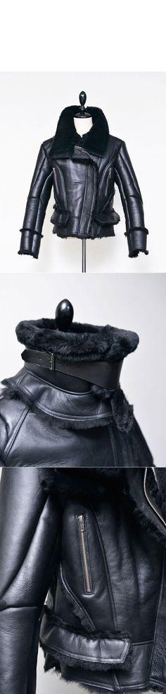 Highneck Black Shearling Rider-Leather 117 - GUYLOOK