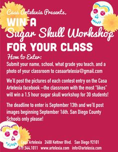 Win A Sugar Skull Workshop for Your Class!