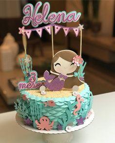 A imagem pode conter: comida Baby Cakes, Girly Cakes, Cute Cakes, Yummy Cakes, Cupcake Cakes, Sirenita Cake, Bolo Fack, Resep Cake, Mermaid Theme Birthday